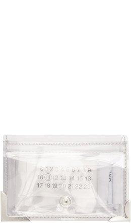 Maison Margiela - SSENSE Exclusive Transparent PVC Mini Wallet