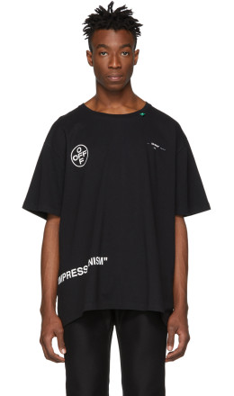 Off-White - SSENSE Exclusive Black Stencil T-Shirt