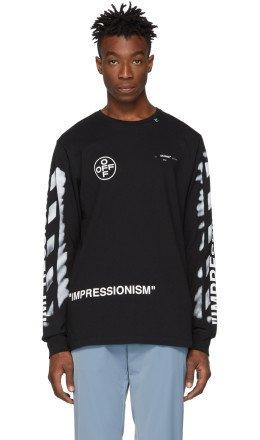 Off-White - SSENSE Exclusive Black 'Impressionism' T-Shirt