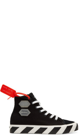 Off-White - Black Vulcanized High-Top Sneakers
