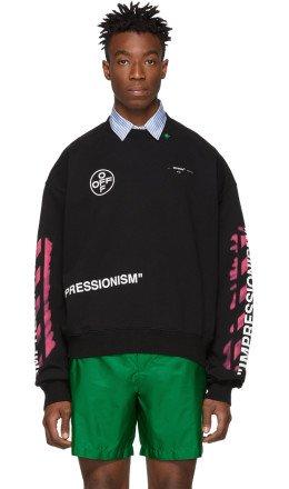 Off-White - Black Diag Stencil Sweatshirt