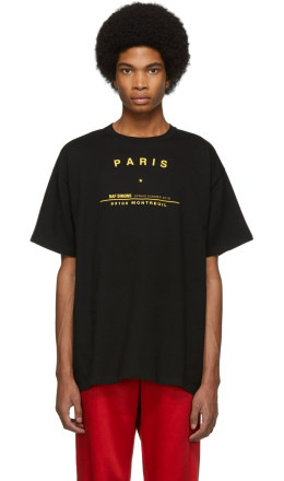 Raf Simons - Black Big Fit Tour T-Shirt