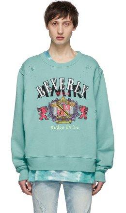Amiri - Blue 'Beverly Hills' Sweatshirt
