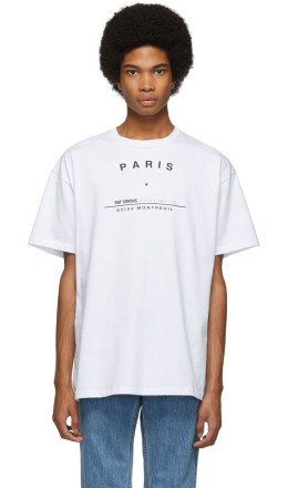 Raf Simons - White Tour Big Fit T-Shirt
