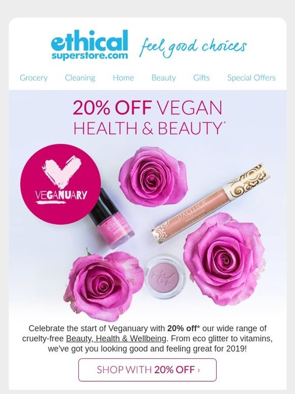 0ca08e9fc27 Ethical Superstore: 20% off vegan beauty & health | Milled