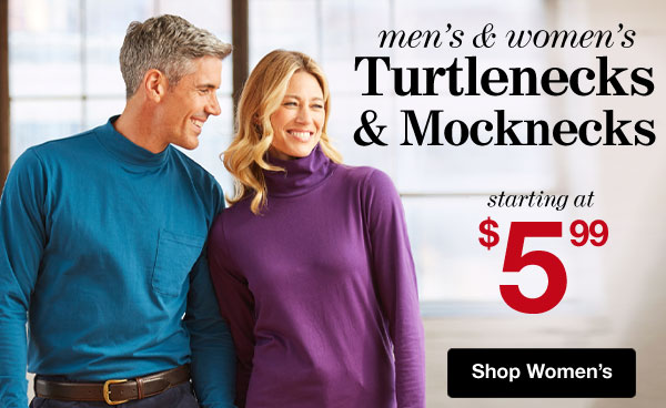Shop Women's Turtlenecks!