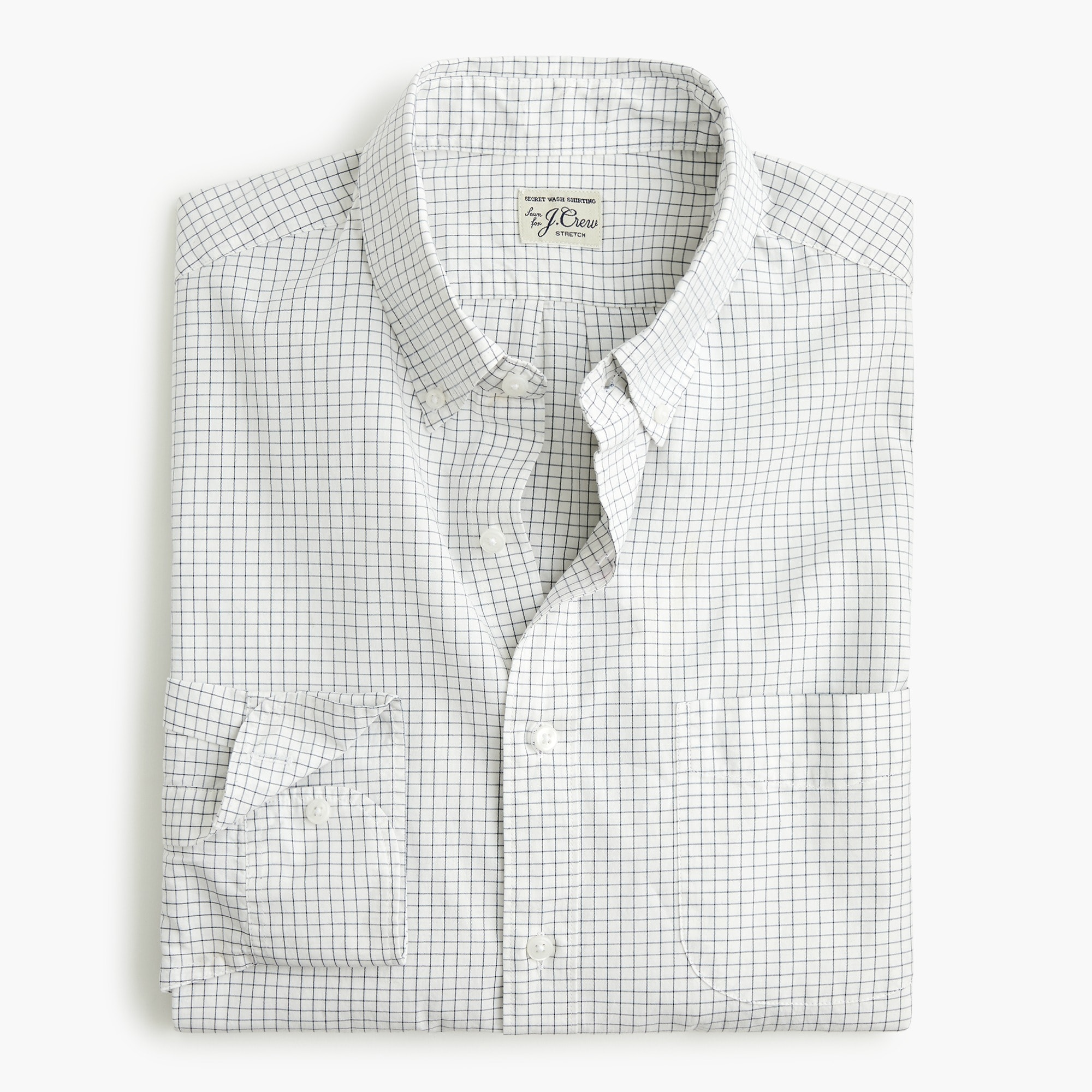 Classic Stretch Secret Wash shirt in microcheck