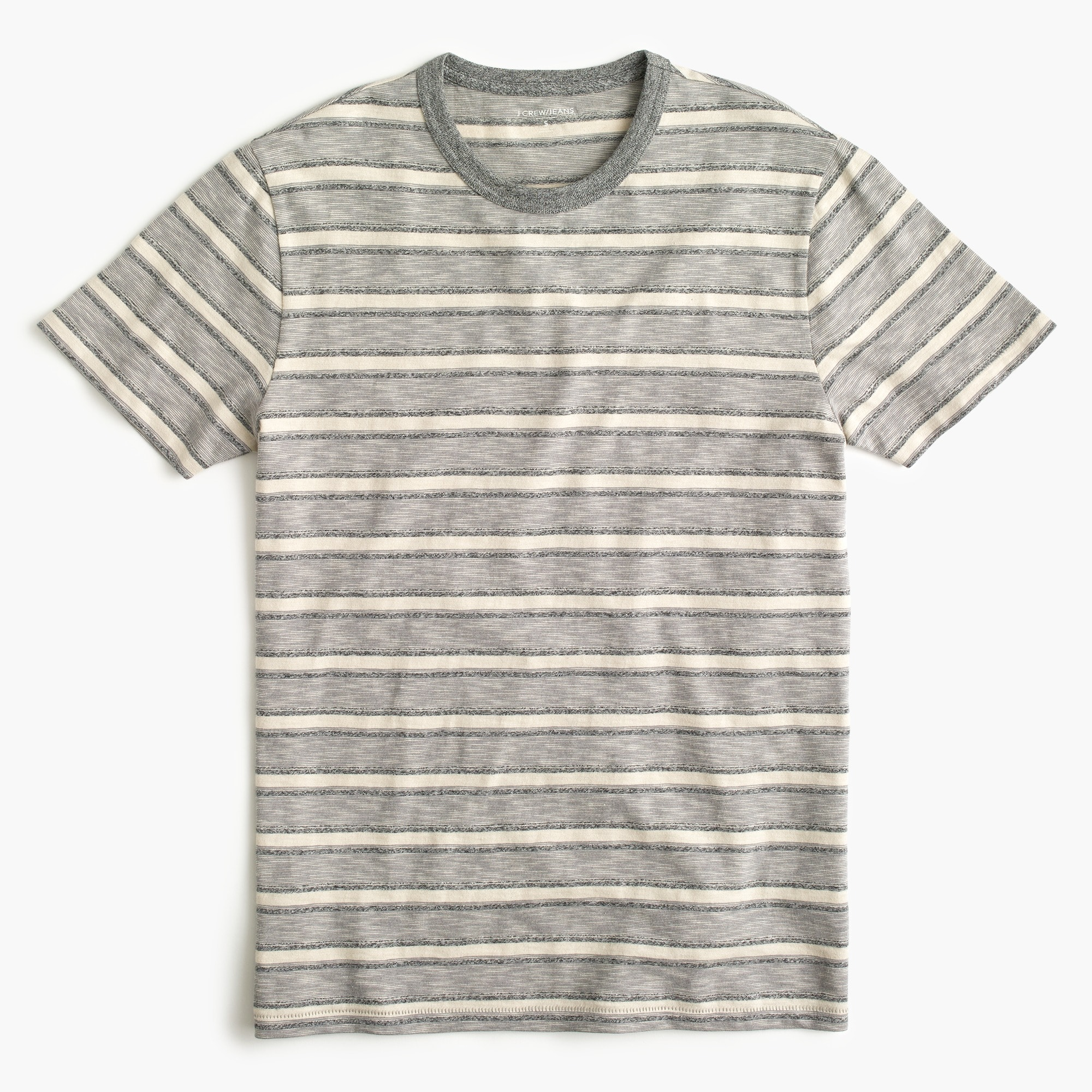 Classic J.Crew Jeans slub jersey pocket T-shirt in heathered stripe