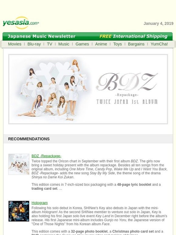 Yesasia: New Japanese Music at YesAsia | Milled