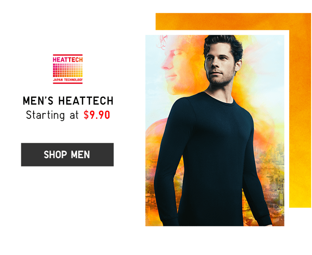 MEN'S HEATTECH STARTING AT $9.90 - SHOP MEN