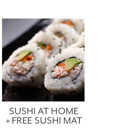Sushi at Home + Free Sushi Mat