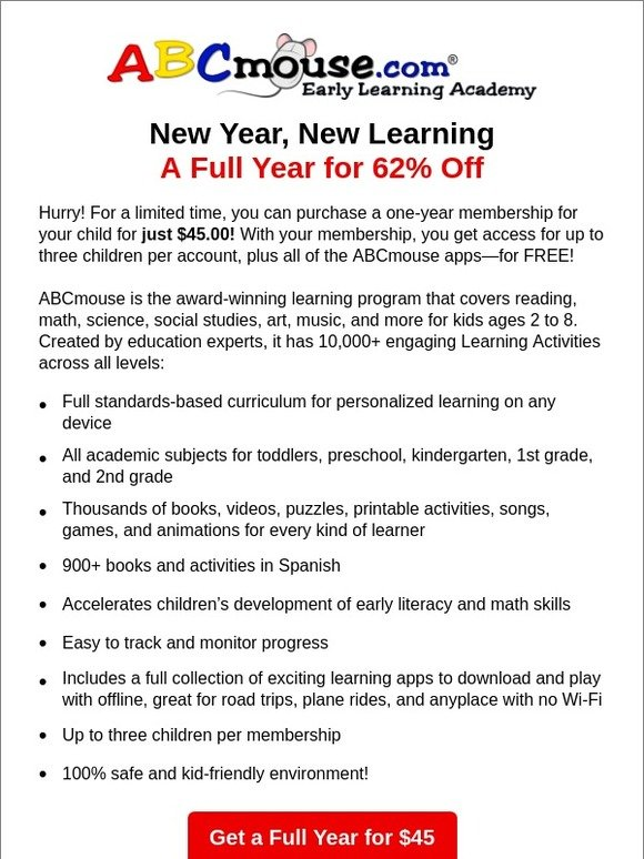 ABCmouse com: A Year of Learning—Every Day! | Milled