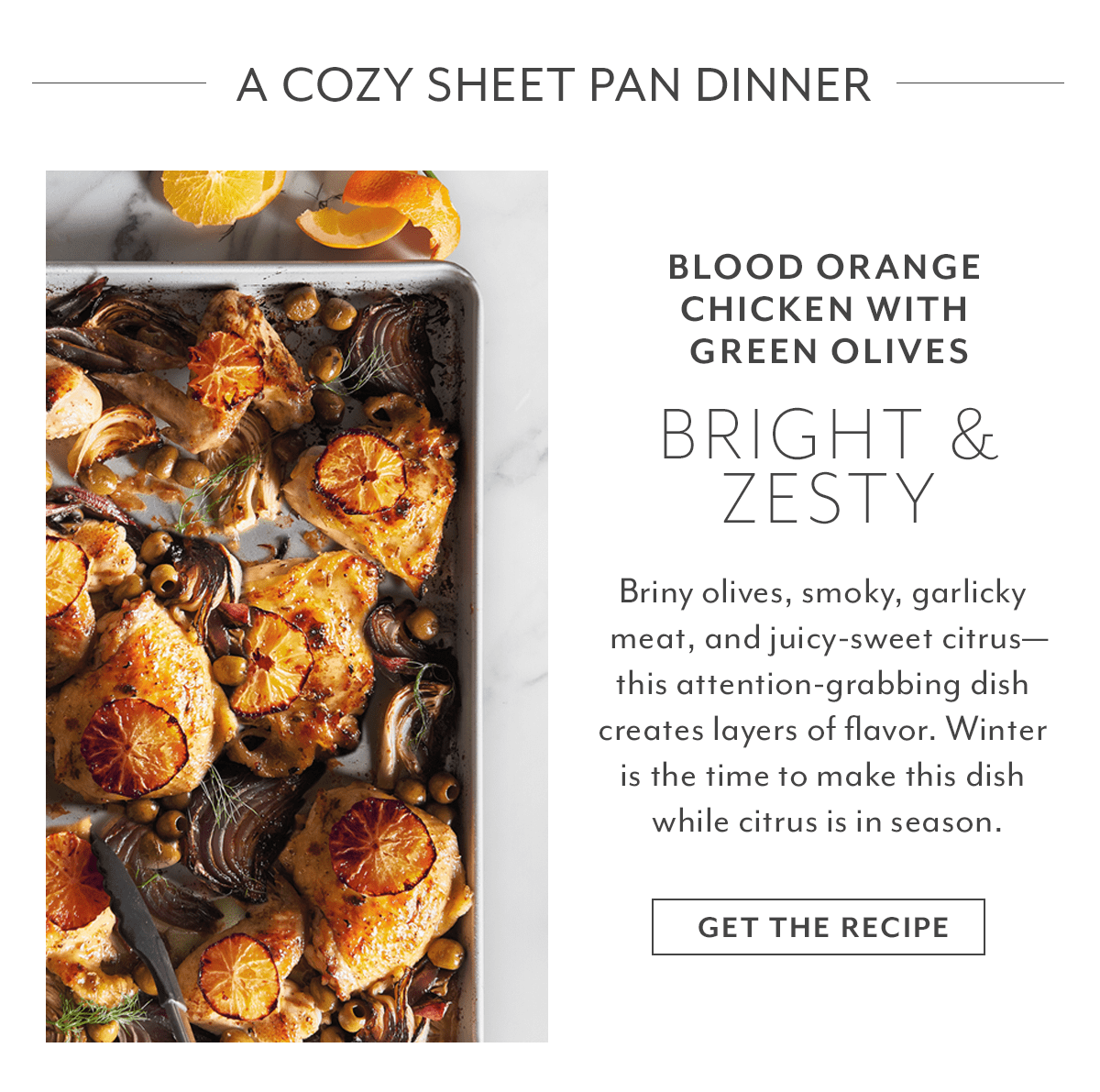 Recipe - Blood Orange Chicken with Green Olives
