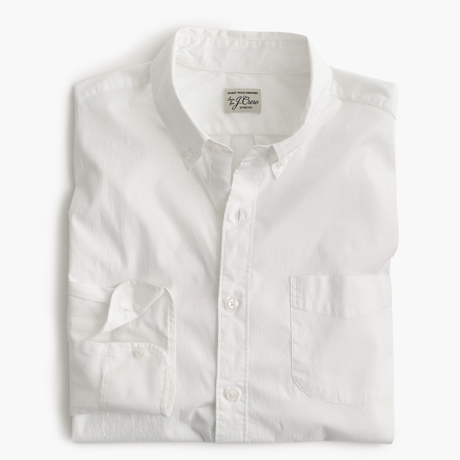 Classic Stretch Secret Wash shirt in white poplin