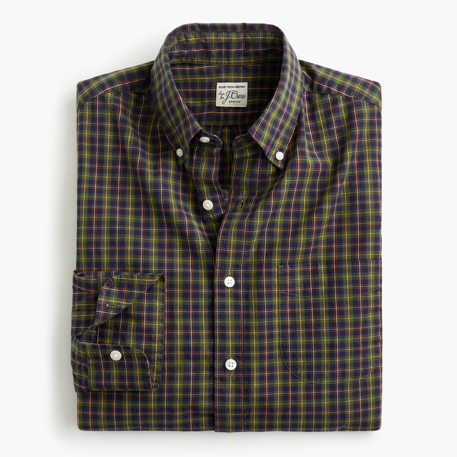 Classic Stretch Secret Wash shirt in Ashford tartan