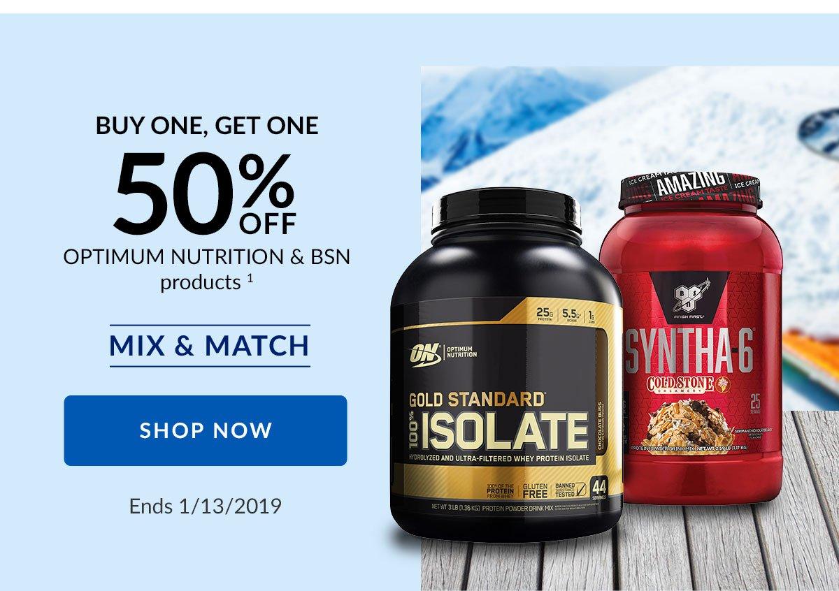Vitamin Shoppe Bogo 50 Bsn Optimum Nutrition Mix Match Milled