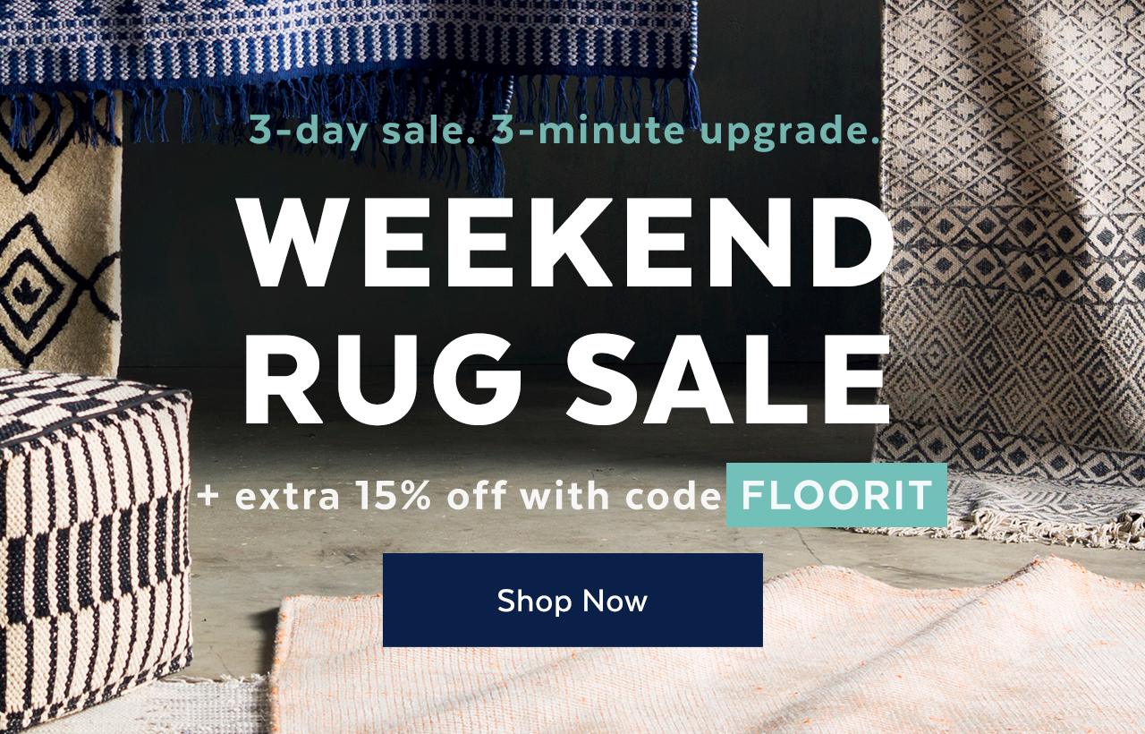 Weekend Rug Sale