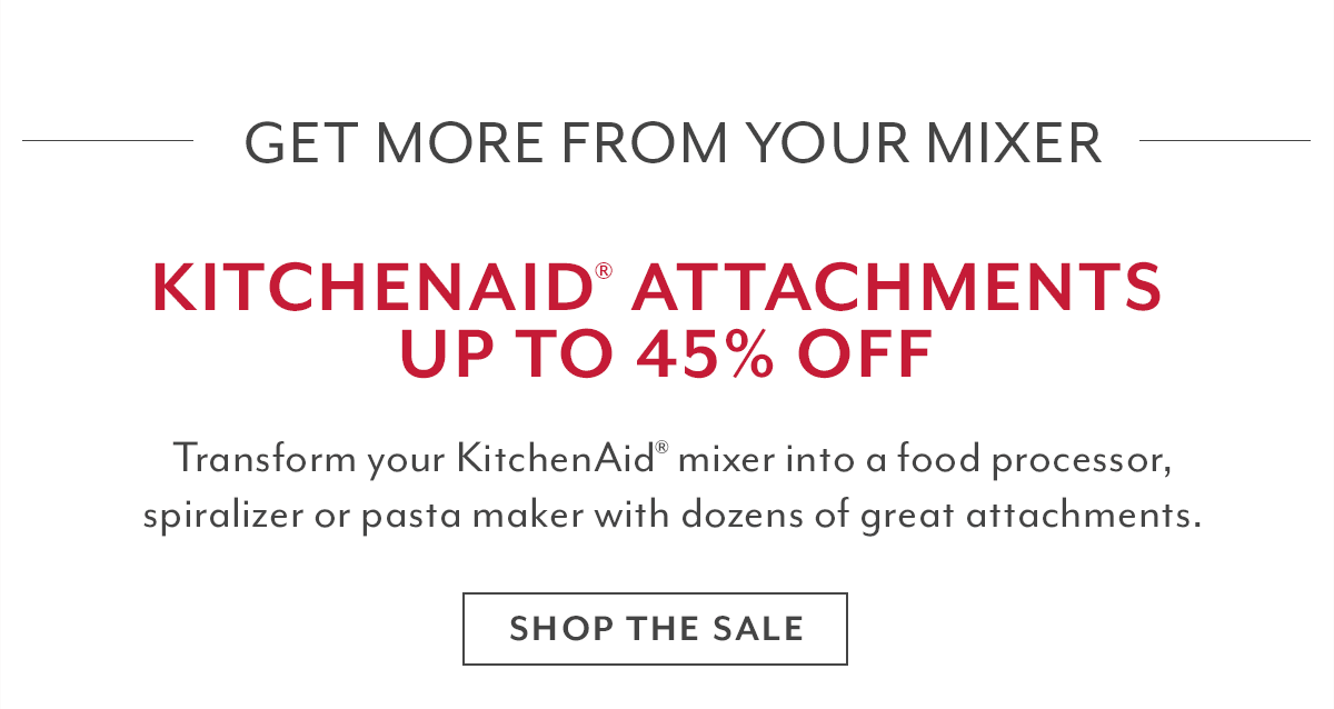 KitchenAid® Attachments Sale
