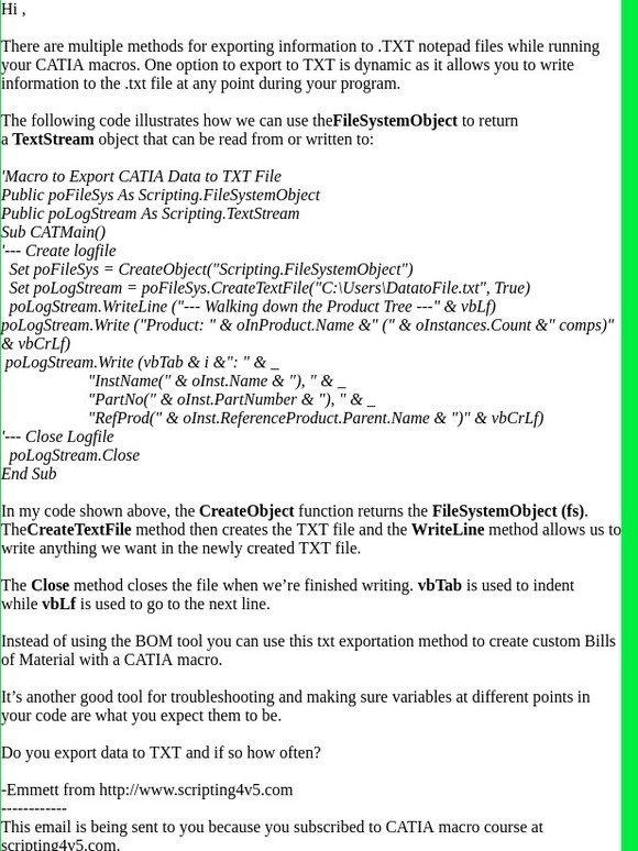 Vb Scripting For Catia V5: Do you know the #1 macro for