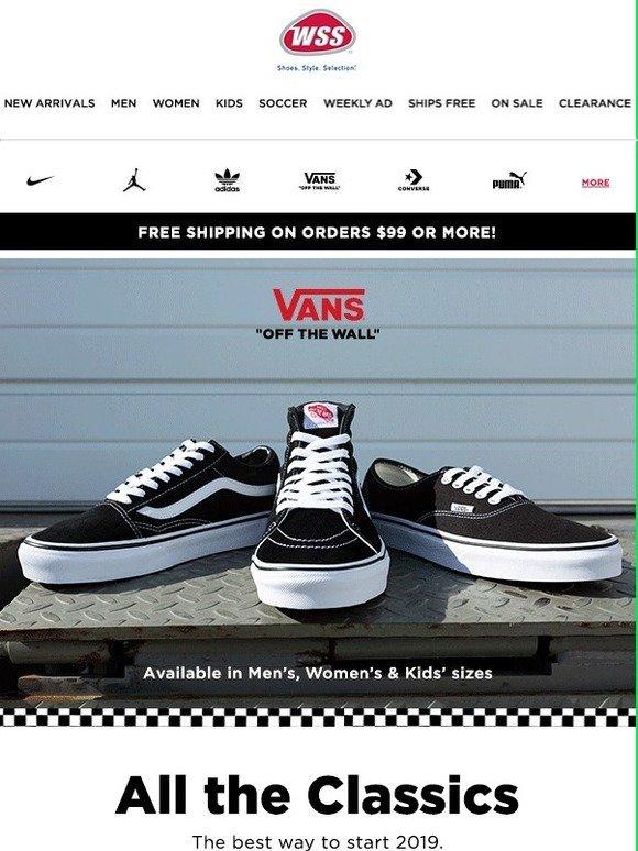 cheap for discount 60ffa e55c1 Shop WSS  -VANS CLASSIC FOOTWEAR!