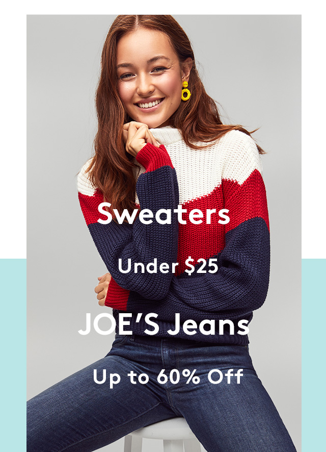 Sweaters | Under $25 | JOE's Jeans | Up to 60% Off