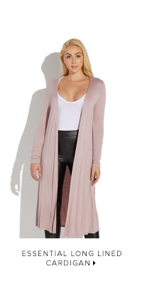 ESSENTIAL LONG LINED CARDIGAN