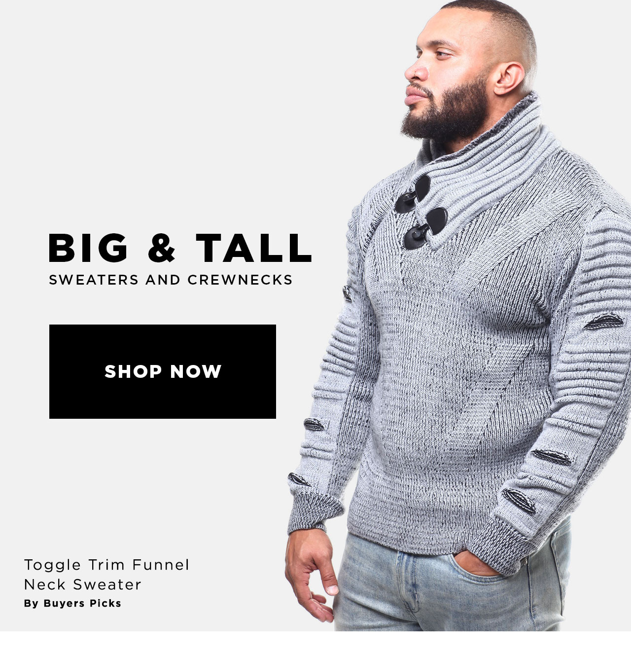 Big and Tall Crewnecks and Sweaters