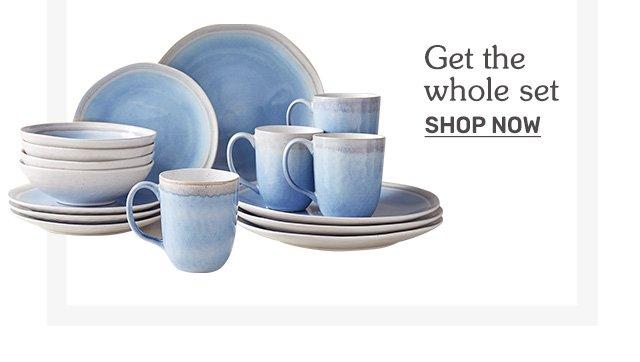 Shop dinnerware sets.
