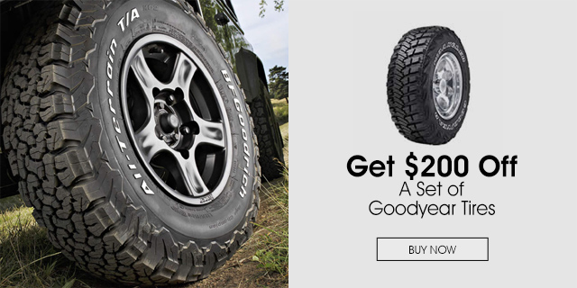 $200 off a Set of Goodyear Tires