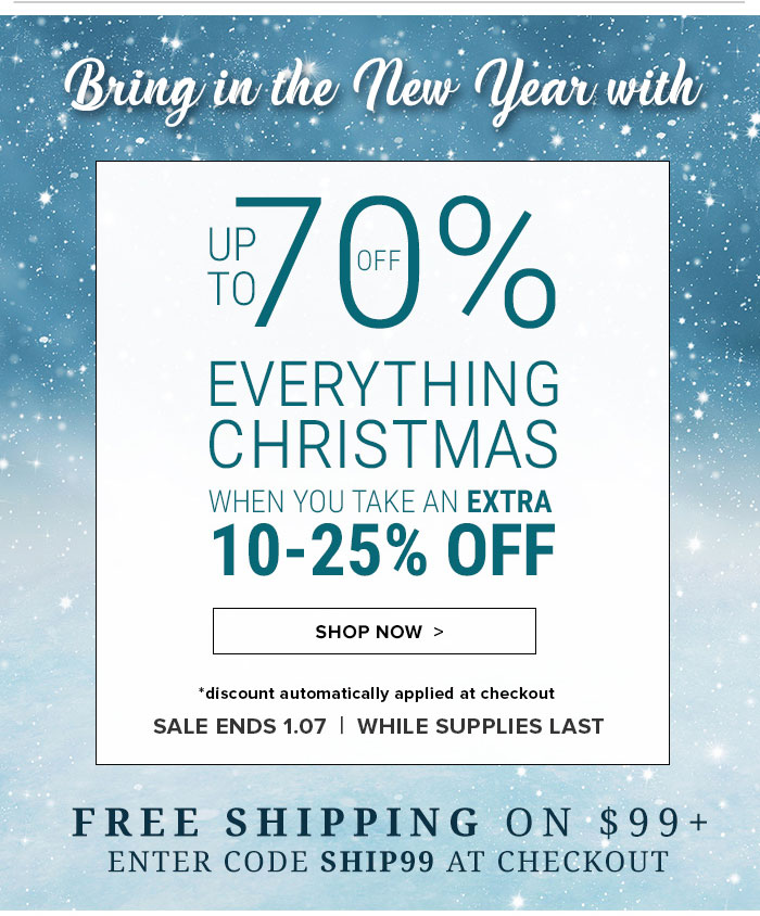 Up to 70% OFF Everything Christmas