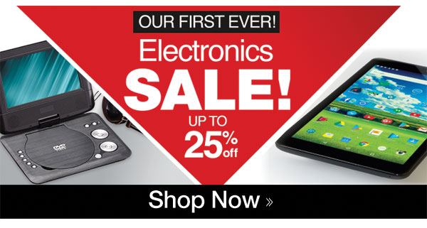 Electronics SALE up to 25% OFF!