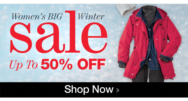Women's Winter SALE up to 50% OFF!