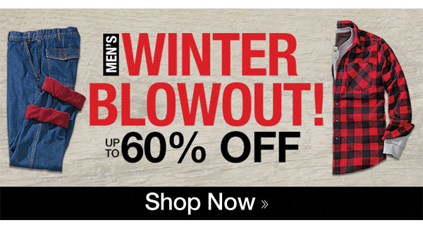 Men's Winter Blowout up to 60% OFF!