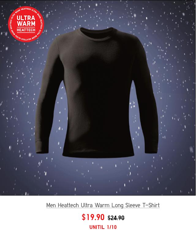 MEN HEATTECH EXTRA WARM CREW NECK T-SHIRT $19.90