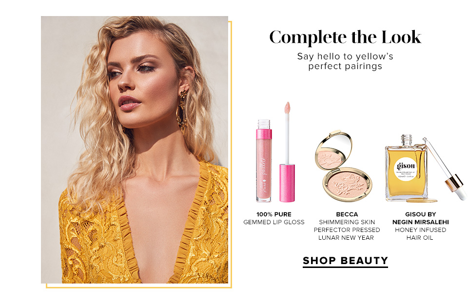 Complete the Look. Say hello to yellow's perfect pairings. Shop Beauty.