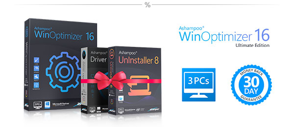 Ashampoo: Save 80% today - WinOptimizer 16 Ultimate Edition