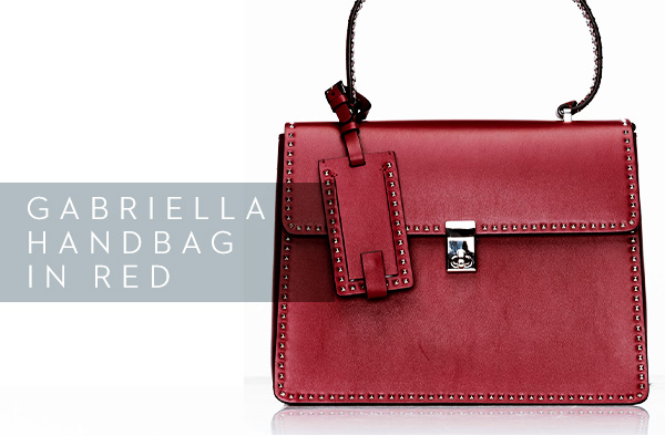 Gabriella Handbag in Red