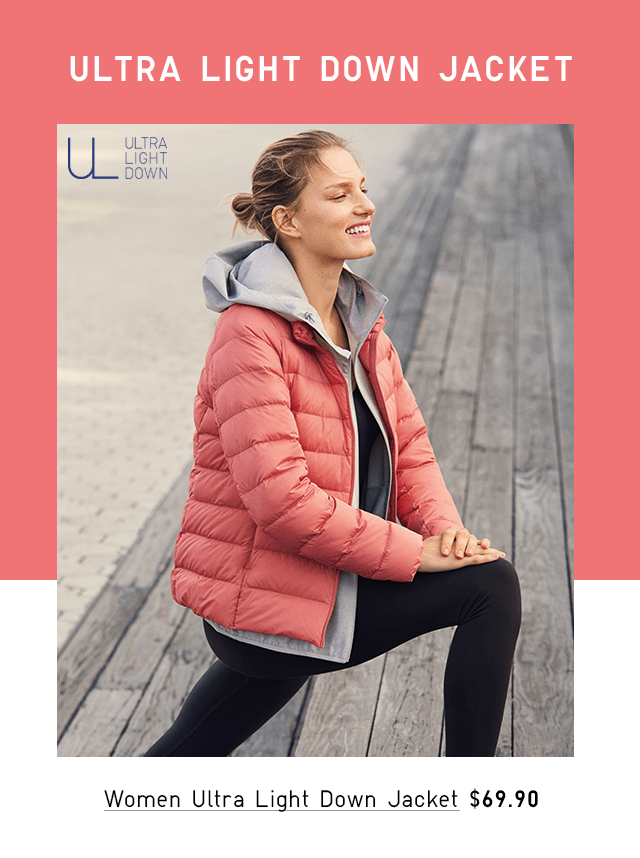 WOMEN ULTRA LIGHT DOWN JACKET $69.90