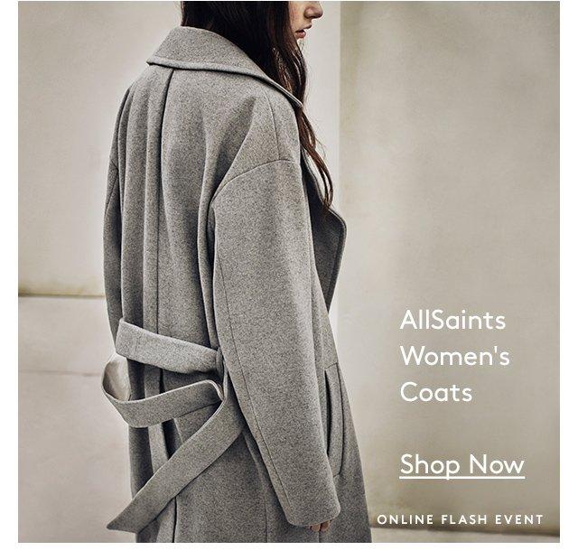 AllSaints | Women's Coats | Shop Now | Online Flash Event