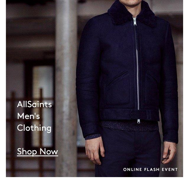 AllSaints | Men's Clothing | Shop Now | Online Flash Event