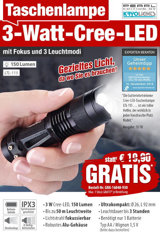 2 stück Taschenlampe Aluminium 2x COB LED mit Fokussierungsfunktion Ultrahell