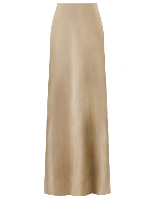 UNBRIDLED COWL NECK SILK DRESS