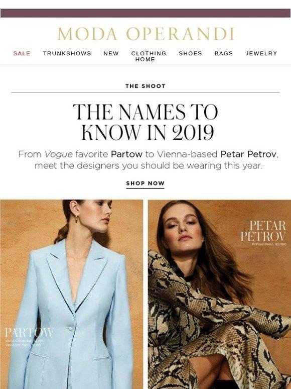 Moda Operandi: The fashion names to know in 2019 | Milled