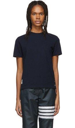 Thom Browne - Navy Piqué T-Shirt