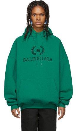 Balenciaga - Green BB Hoodie