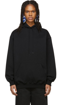 Balenciaga - Black Logo Hoodie