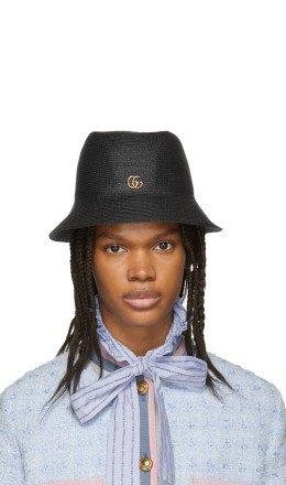 Gucci - Black GG Straw Hat