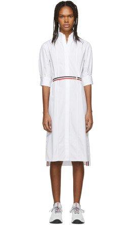 Thom Browne - White Poplin Blouse Dress