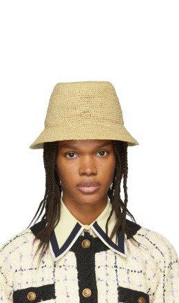 Gucci - Beige GG Straw Hat