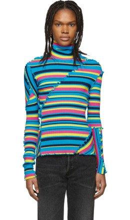 Balenciaga - Multicolor Patchwork Turtleneck